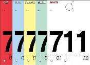 3 Digit Colored Service Numbers